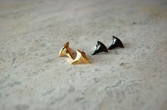 Michael Spirito Shark Tooth Studs in 10K Gold Plate, $30