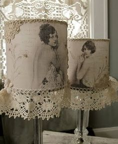 Love these lampshades.