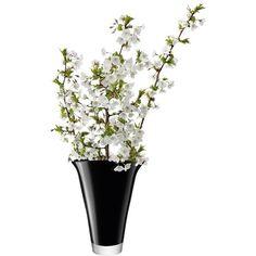 LSA International LSA Molten Flare Vase Black Large (395 CNY) ❤ liked on Polyvore featuring home, home decor, vases, flowers, decor, filler, outdoor vases, handmade home decor, outdoor home decor and lsa international