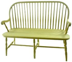 Amish Round Spindle Windsor Bench | Amish Benches | Amish Dining Room Furniture 4233