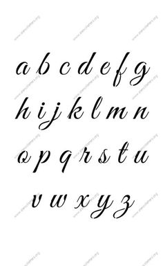 elegant calligraphy a to z lowercase letter stencils