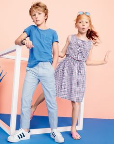 Classic seersucker on supercool crewcuts silhouettes = instant playground cred.