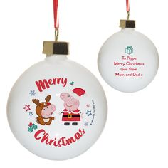 Merry Christmas Love, Christmas Ornaments, Would You Rather Questions, George Pig, Bauble, Peppa Pig, Bone China, Characters, Messages