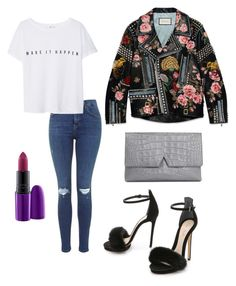 """""""Untitled #124"""" by tyra-breann on Polyvore featuring MANGO, Monique Lhuillier, Vince, MAC Cosmetics, Gucci, women's clothing, women's fashion, women, female and woman"""