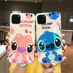 Kawaii Stitch and Angel iPhone Case