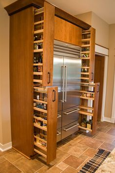 Kitchen Pantry Storage Cabinets Spice Racks 22 Ideas For 2019 Kitchen Storage Solutions, Diy Kitchen Storage, Pantry Storage, Kitchen Organization, Storage Racks, Organization Ideas, Storage Cabinets, Wall Pantry, Spice Cabinets
