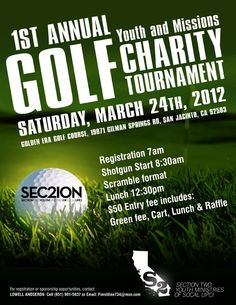 Youth Missions Golf Tournament flyer