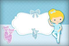 Bailarina Loira Poá Azul –