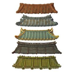 Buy Asian Modular Roof Set by BITGEM on Get started quickly on your next fantasy village with this set of five low poly, hand painted modular Asian roofs! Ancient Chinese Architecture, Asian Architecture, Architecture Design, Architecture Office, Futuristic Architecture, Roof Design, House Design, Japanese Buildings, Asian House