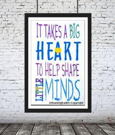 It Takes A Big Heart To Help  Shape Little by UrbanDigitalArt, $5.95