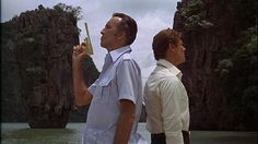 Christopher Lee - Francisco Scaramanga and Roger Moore - 007