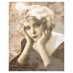 Vintage sepia print, winsome goddess, digital print, photomontage,... (33 CAD) ❤ liked on Polyvore featuring home, home decor, wall art and sepia wall art