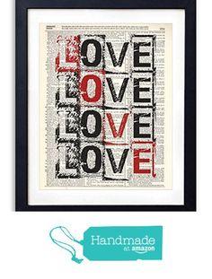 Love Love Love Love Typography Upcycled Vintage Dictionary Art Print 8x10 from Vintage Book Art Co. http://smile.amazon.com/dp/B015S1CYI6/ref=hnd_sw_r_pi_dp_xAsHwb0NM9RNJ #handmadeatamazon