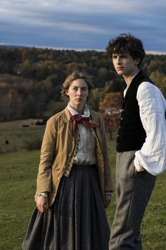 Historische Schönheit Saoirse Ronan as Jo March and Timothée Chalamet as Theodore 'Laurie' Laurence in LITTLE WOMEN Set in the the costumes were designed by Jacqueline Durran. Movies Showing, Movies And Tv Shows, I Love Cinema, Romeo Und Julia, Timmy T, Woman Movie, Matthew Gray Gubler, Film Aesthetic, Aesthetic Vintage