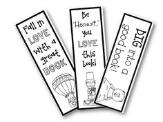 free monthly bookmarks