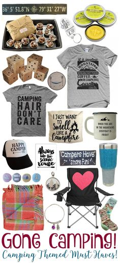 Gone Camping - Camping Themed Must Haves! - http://BusyBeingJennifer.com