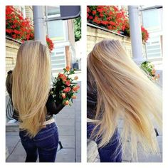 Thick blonde hair. Love it & want it. Growing mine out currently. Who wouldnt take notice to pretty locks like that?
