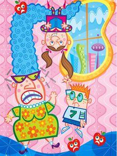 Sideways Stories from the Wayside School, 2011, Jim Steck, Illustration Artist