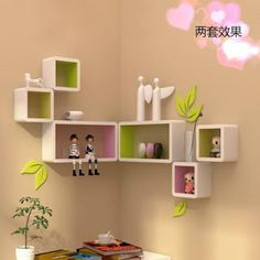 The newest catalog of corner wall shelves designs for modern home interior wall decoration latest trends in wooden wall shelf design as home interior decor trends in Indian houses Corner Wall Shelves, Wooden Wall Shelves, Wall Shelves Design, Book Shelves, Kids Room Design, Home Design Decor, Diy Home Decor, Design Ideas, Living Room Partition Design