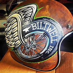 Pete Finlan just finished up this half shell for... - Biltwell Inc.
