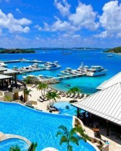 The 52-room Scrub Island Resort is about 20 minutes from Tortola, the main island in BVI. #Jetsetter