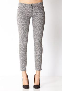 Life In Progress™ Leopard Skinny Jeans | FOREVER21 - 2040495182