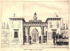 Design for an Egyptian Revival Cemetery