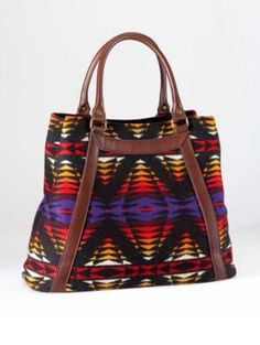 Leather-trimmed tote from Pendleton.