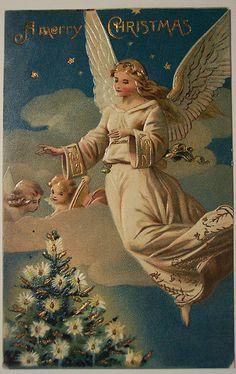 Kerstengelen - www.nostalgische-feestdagen.nl