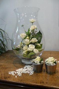 New_Shop - Bloemstuk in glazen vaas