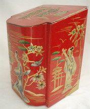 Vintage Red Japanese Tea Tin by seller Vintage Canisters, Vintage Tins, Tea Tins, Tea Box, Tea Caddy, Vintage Japanese, The Ordinary, Kitsch, Oriental