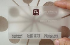 21 best transparent business card design images on pinterest 40 creative examples of transparent business cards free and useful online resources for designers and reheart Choice Image