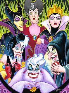 Disney Villianesses seem to always have GREEN eyes!! Is Disney trying to tell us to beware? Food for thought!