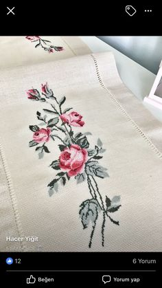 Cross Stitch Borders, Cross Stitch Designs, Bargello, Needlework, Embroidery, Blanket, Diy Crafts, Bath Linens, Embroidered Towels