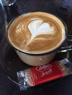 Flat white coffee Art @ Haji Lane