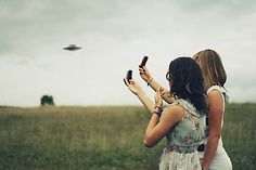 We spotted a ufo  by Alexandra Sophie