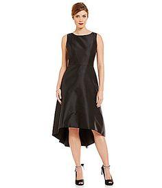 e003a6c4e32 Leslie Fay Round Neck Sleeveless HiLow Dress  Dillards Hi Low Dresses