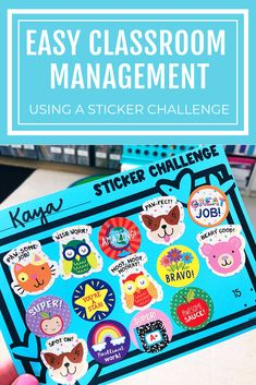 Sticker Challenge Use an April sticker challenge to encourage and reinforce individual student positive behavior and goals.Use an April sticker challenge to encourage and reinforce individual student positive behavior and goals. Kindergarten Behavior, Kindergarten Classroom Management, Classroom Management Strategies, Student Behavior, 2nd Grade Classroom, Preschool Behavior Management, Student Goals, Cafeteria Behavior, Champs Behavior