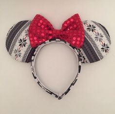 Winter Sweater Mouse Ears by ThePrincessPrep on Etsy https://www.etsy.com/listing/244187836/winter-sweater-mouse-ears