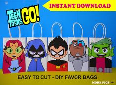 Check out our beast boy selection for the very best in unique or custom, handmade pieces from our costumes shops. Diy Birthday Party Favors, Party Favor Bags, Gift Bags, Birthday Centerpieces, Diy Party, Birthday Ideas, Beast Boy, Pokemon Party Bags, Pokemon Birthday