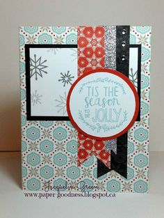 Card using Snowhaven paper pack from Close To My Heart