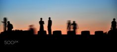 Silhouettes of People at Lincoln Memorial in Washington DC