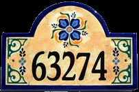 Old Spanish House Number Plaque