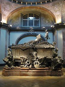 Maria Theresa and her husband are interred in a double tomb in Vienna