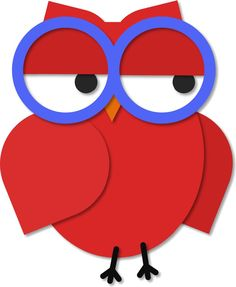 https://flic.kr/p/egQu5r | Owl with Glasses | For you, Mimi :) [white background] Other colours, and a colour-it-yourself version are in THIS set.
