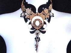 Three Moons/Witch/ Gothic Collar/ Gothic/ Gothic Choker/