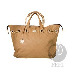- Oversized faux leather purse - Tip stitched quilting - Gold toned chain and leather shoulder strap with PU leather handles - Full zippered opening - Custom FERI lining with zippered pouch and cellphone pockets - Dimension: x x Leather Chain, Leather Handle, Pu Leather, Shoulder Strap Bag, Luxury Bags, Zipper Pouch, Purse Wallet, Purses And Handbags, Tote Bag