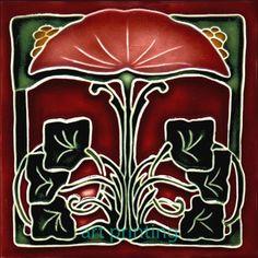Art Nouveau Ceramic Decorative Wall Tile 6 x 6 inches 16 | eBay