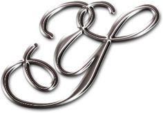 Alfabeto Decorativo: Alfabeto - Cromado - PNG