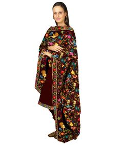 Parsi Gara Inspired Crepe Suit | Tt-4060suv | Talkingthreads | Global Online Boutique | Buy Finest Embroidered Sarees | Salwar Kameez | Dupa...